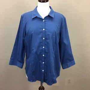 Eddie Bauer Blue Button Down Top